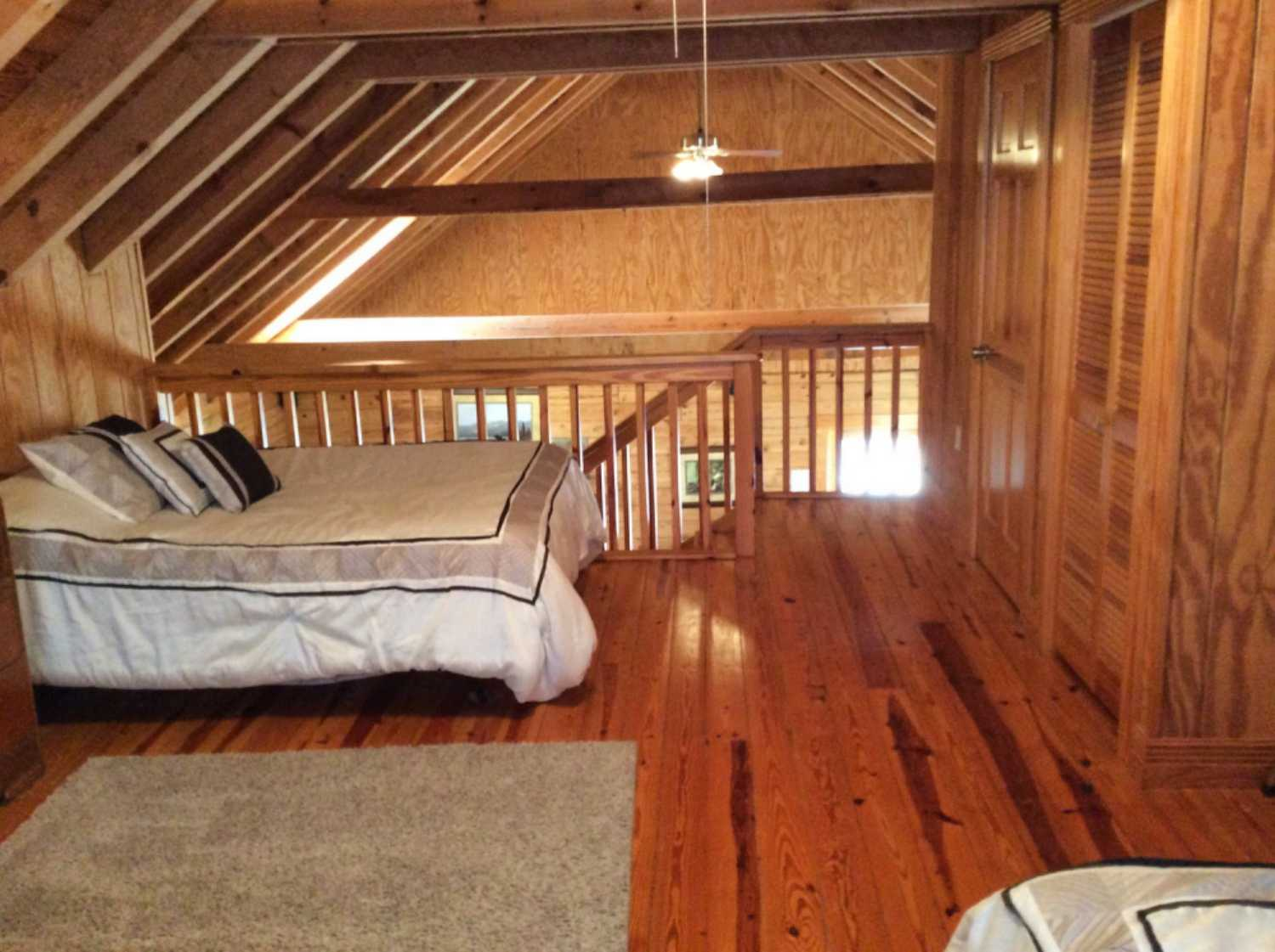 Loft area with plenty of space for extra beds or entertainment area overlooking living room