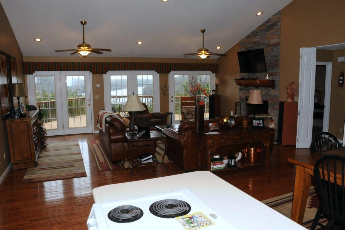 Kitchen point of view offering beautiful views of the Norris Lake