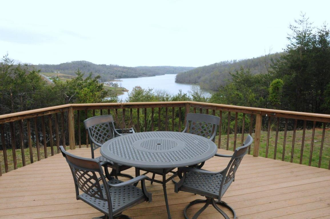 Patio deck with amazing panoramic views of Norris Lake
