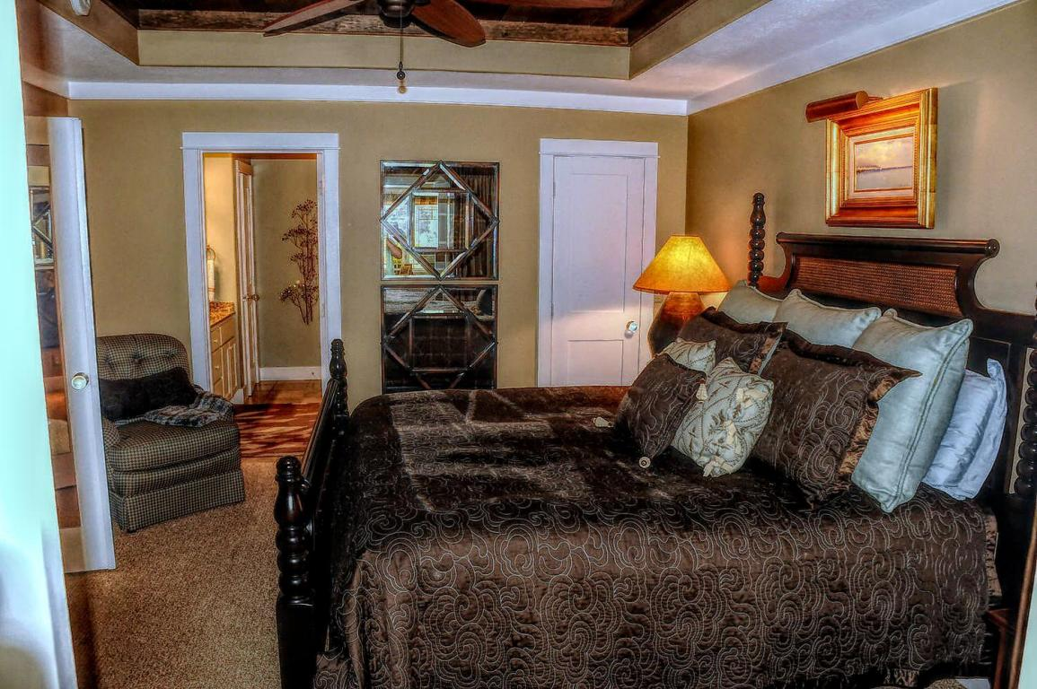 Lower level bedroom suite with trey ceilings