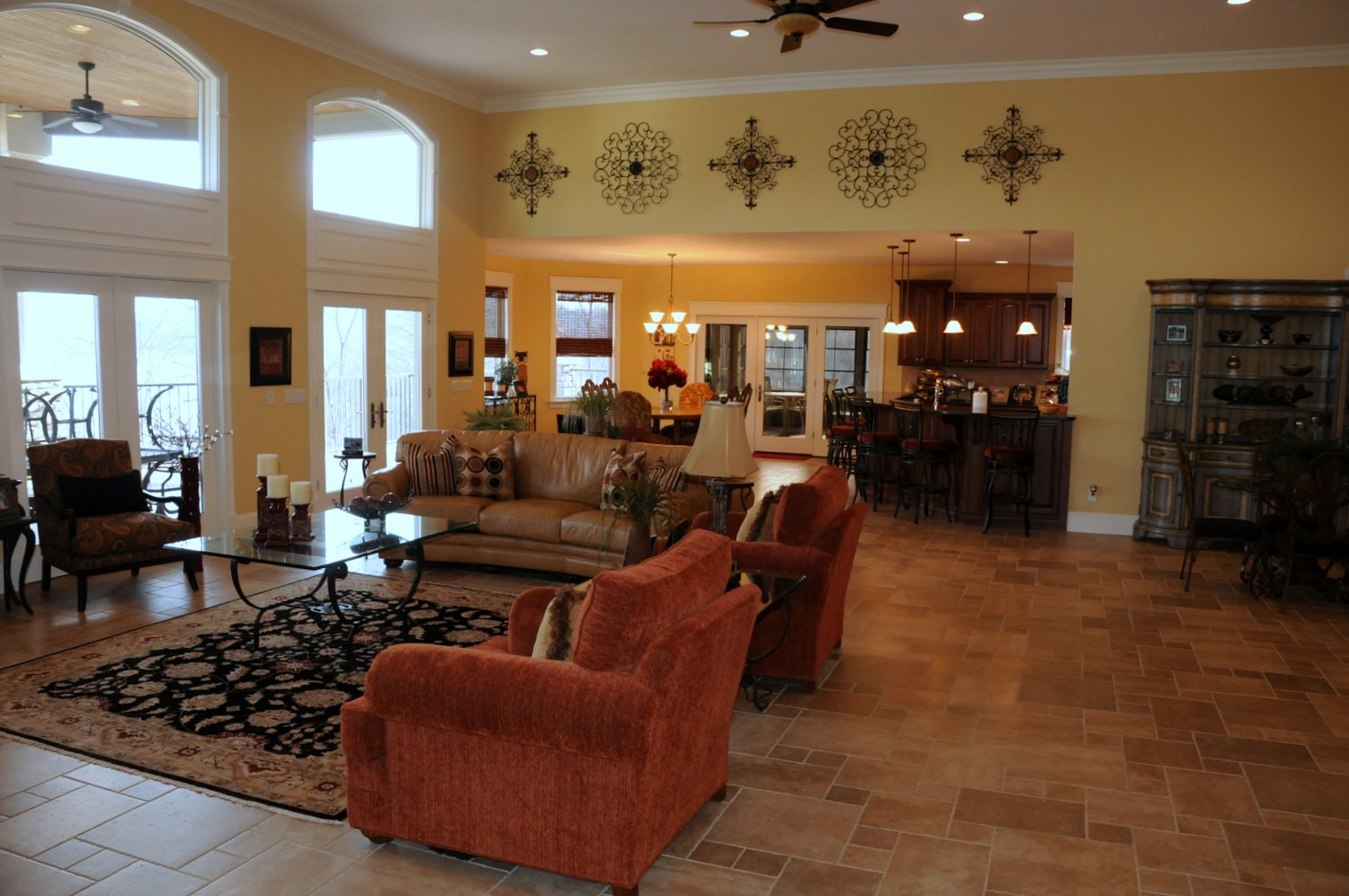 Great view to sit back and relax. Enjoy Cathedral ceilings with wide open windows