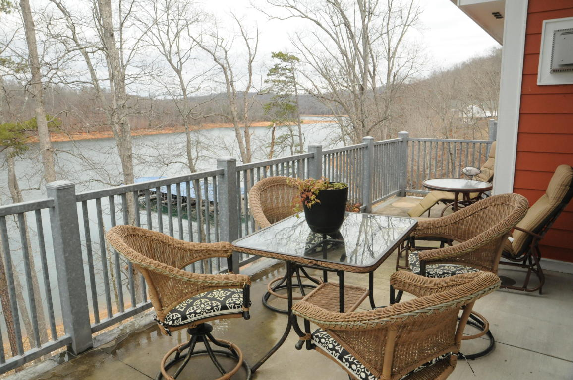Plenty of space on the balcony patio to enjoy the views of Norris Lake