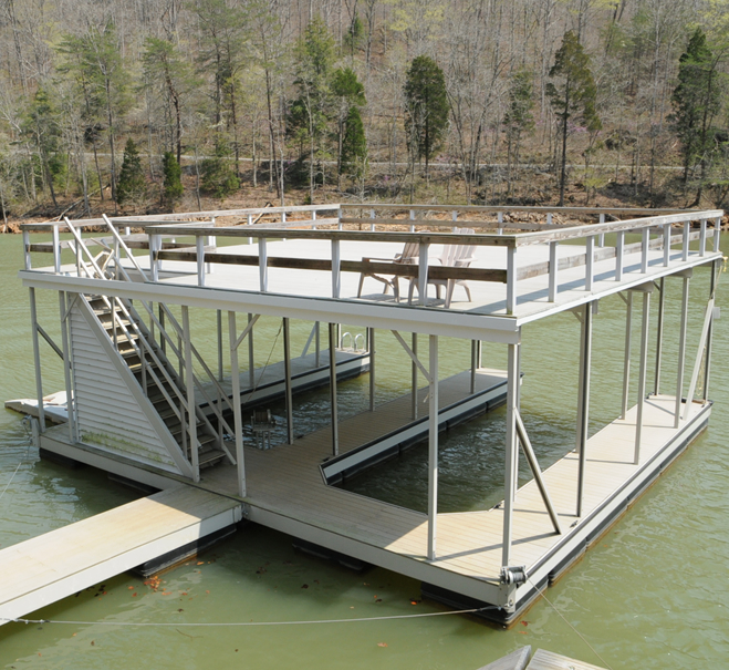boat-dock-with-upper-level-deck-patio-norris-lake