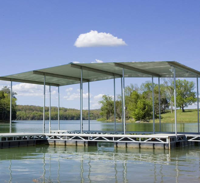 standard-boat-dock-with-aluminum-framing-norris-lake