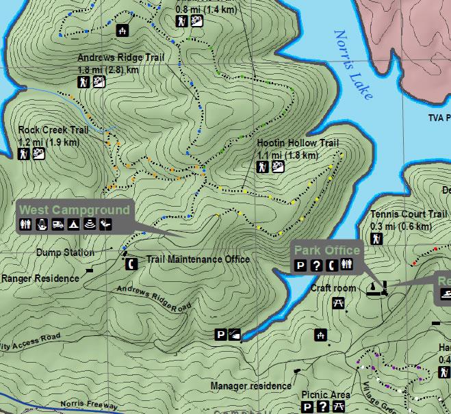 Day Hike Hootin Hollow Trailhead Norris Lake TN