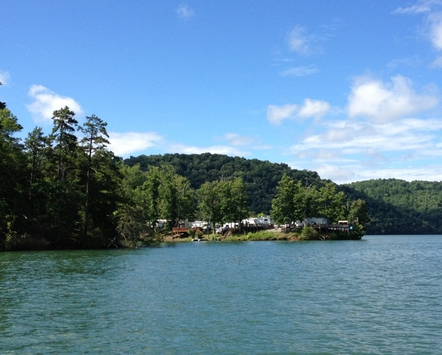 Camping sites on Norris Lake