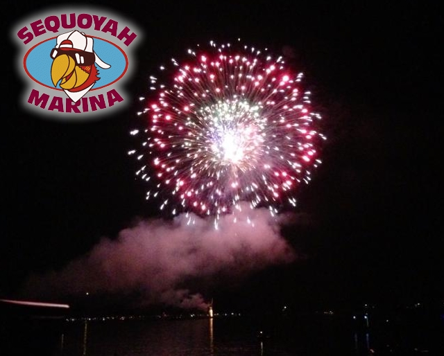 The largest fireworks show on Norris Lake