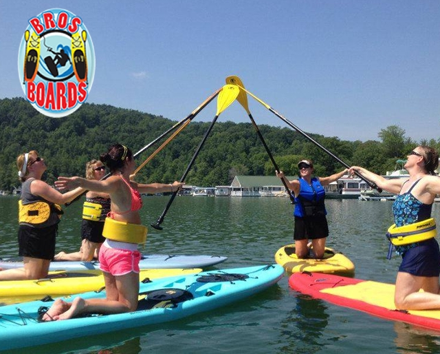PaddleBoard Rentals from Bros Brothers on Norris Lake